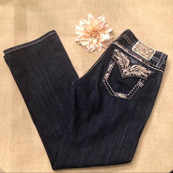 Miss Me Denim - Miss Me Bling Bootcut Dark Wash Stretch Jeans